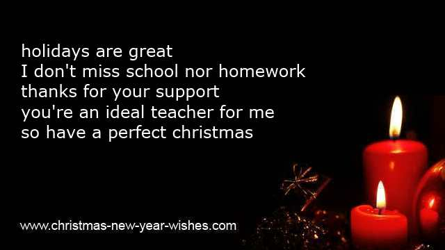 kids christmas poems for teachers