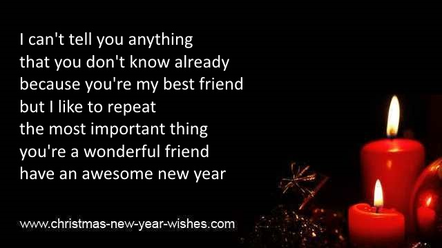 new year sms message to friends