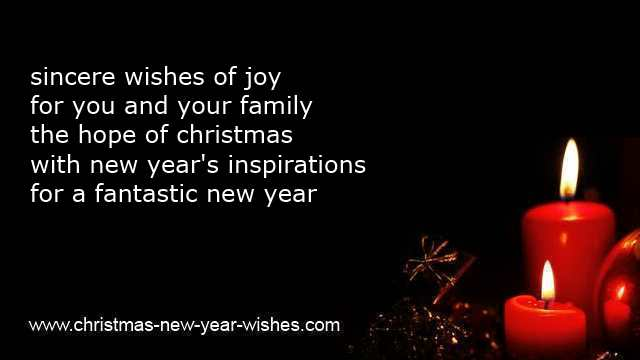 christmas new year wishes messages