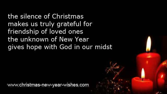 christmas and new year bible wordings